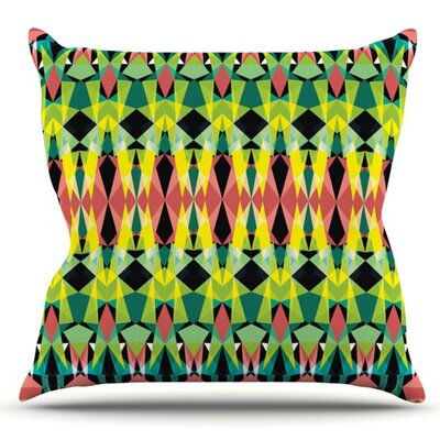 T-Vision by Akwaflorell Outdoor Throw Pillow