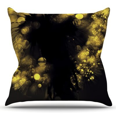Moonlight Dandelion by Ingrid Beddoes Outdoor Throw Pillow