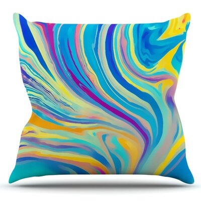 Rainbow Swirl by Ingrid Beddoes Outdoor Throw Pillow