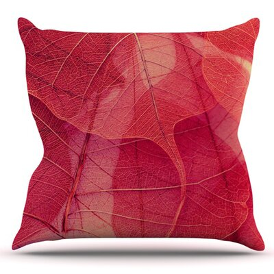 Delicate Leaves by Ingrid Beddoes Outdoor Throw Pillow