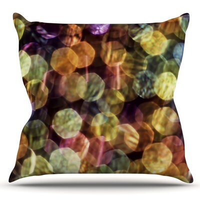 Warm Sparkle by Ingrid Beddoes Outdoor Throw Pillow