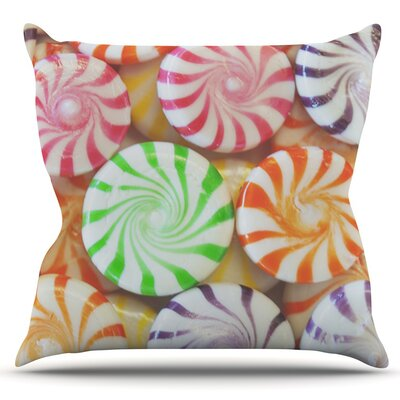 I Want Candy by Libertad Leal Outdoor Throw Pillow
