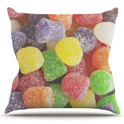 I Want Gum Drops by Libertad Leal Outdoor Throw Pillow