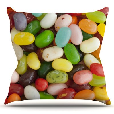 I Want Jelly Beans by Libertad Leal Outdoor Throw Pillow