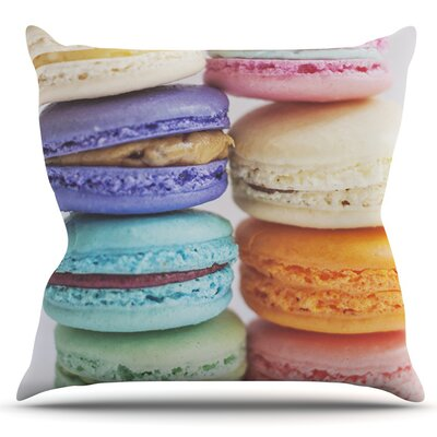 I Want Macaroons by Libertad Leal Outdoor Throw Pillow