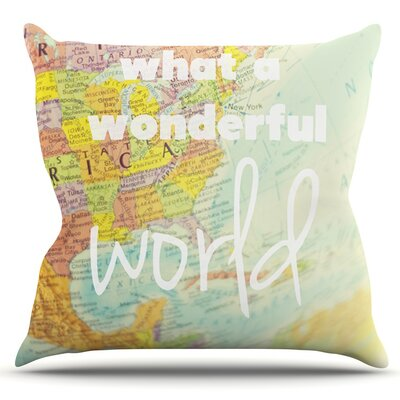 What a Wonderful World by Libertad Leal Outdoor Throw Pillow