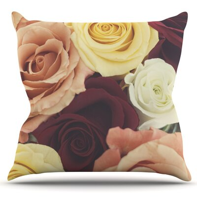Vintage Roses by Libertad Leal Outdoor Throw Pillow