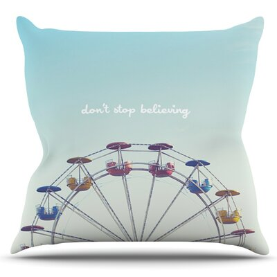 Dont Stop Believing by Libertad Leal Outdoor Throw Pillow