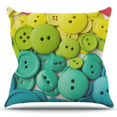 Cute as a Button by Libertad Leal Outdoor Throw Pillow