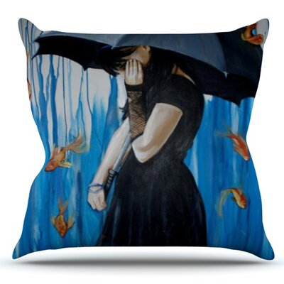 Sink or Swim by Lydia Martin Outdoor Throw Pillow