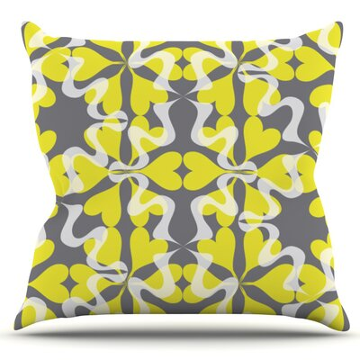 Flowering Hearts by Miranda Mol Outdoor Throw Pillow