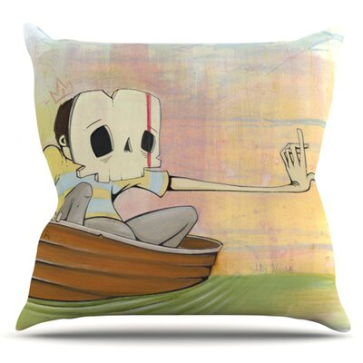 Drifting by Matthew Reid Outdoor Throw Pillow
