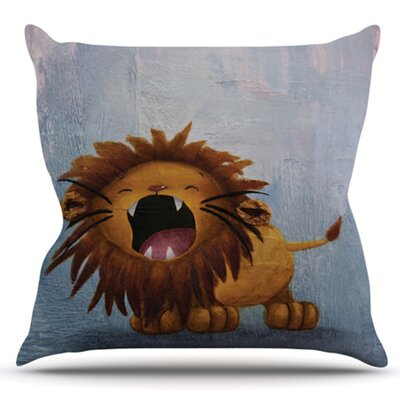 Dandy Lion by Rachel Kokko Outdoor Throw Pillow