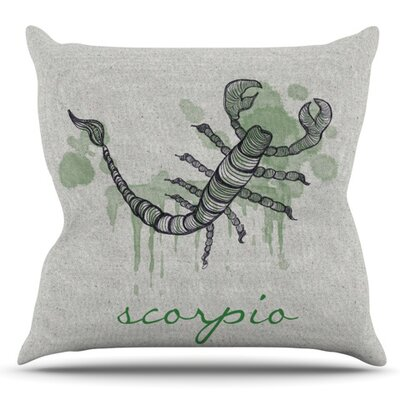 Scorpio by Belinda Gillies Outdoor Throw Pillow