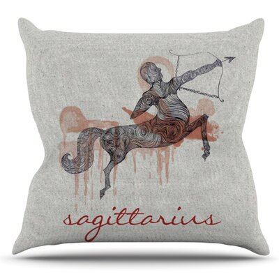 Sagittarius by Belinda Gillies Outdoor Throw Pillow
