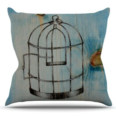 Bird Cage by Brittany Guarino Outdoor Throw Pillow