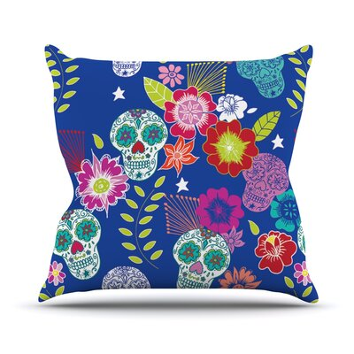 Day of the Dead Outdoor Throw Pillow
