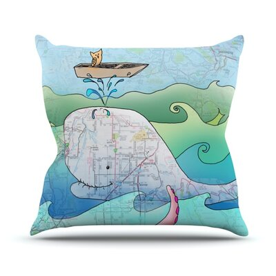 Boat Outdoor Throw Pillow