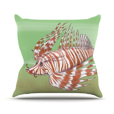 Fish Manchu Outdoor Throw Pillow