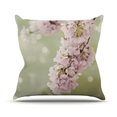 Cherry Blossom Outdoor Throw Pillow