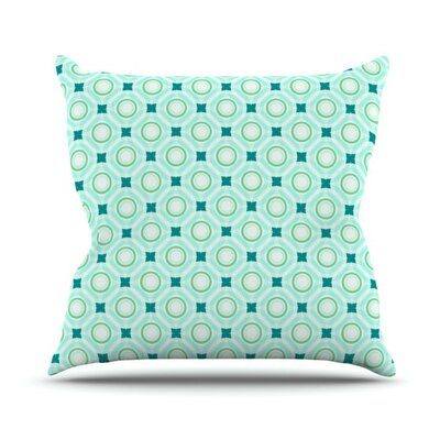 Tossing Pennies by Catherine McDonald Outdoor Throw Pillow Color: Blue