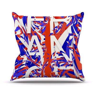 France Outdoor Throw Pillow