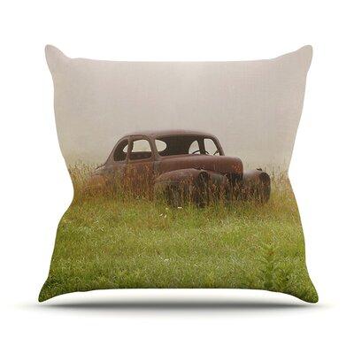 Forgotten Car Outdoor Throw Pillow