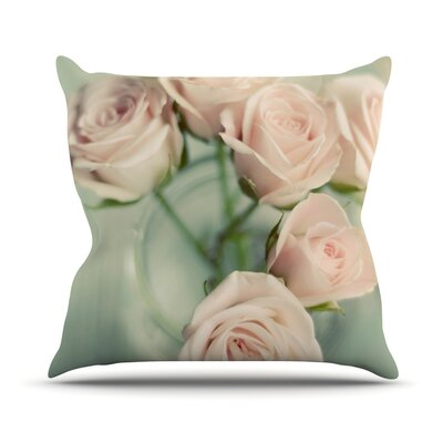 Pink Romance Outdoor Throw Pillow