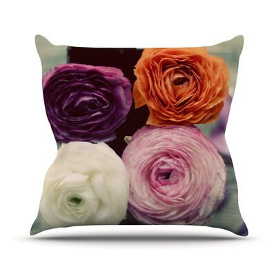 Four Kinds of Beauty Outdoor Throw Pillow