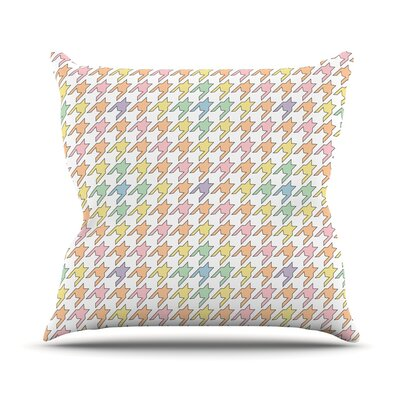 Pastel Houndstooth Outdoor Throw Pillow