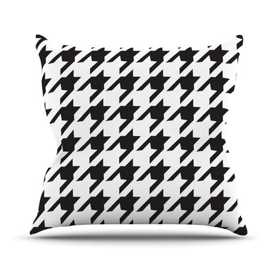 Houndstooth Outdoor Throw Pillow