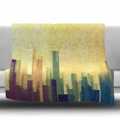 Cloud City by Cvetelina Todorova Fleece Blanket Size: 80 L x 60 W