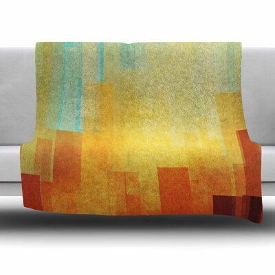 Urban Sunset by Cvetelina Todorova Fleece Blanket Size: 80 L x 60 W
