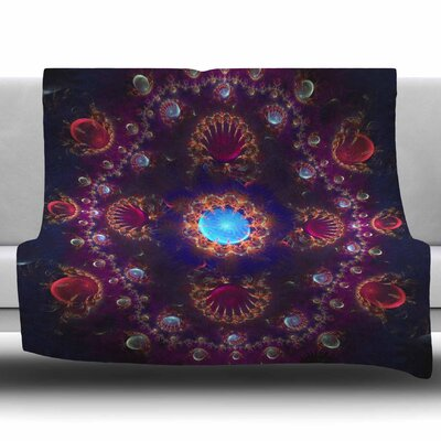 Royal Jewels by Cvetelina Todorova Fleece Blanket Size: 80 L x 60 W