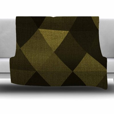 Golden Triangles by Cvetelina Todorova Fleece Blanket Size: 80 L x 60 W