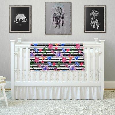 Flower Party by DLKG Design Fleece Blanket Size: 80 L x 60 W