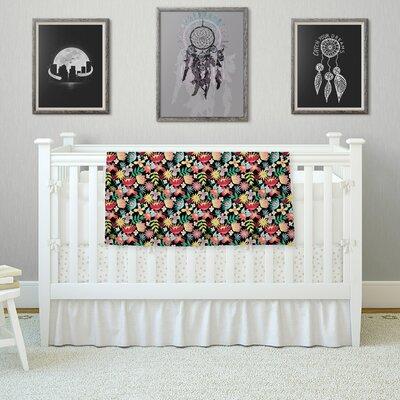 Flower Power by DLKG Design Fleece Blanket Size: 80 L x 60 W