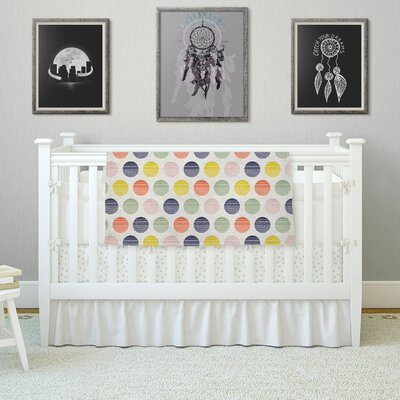 Rainbow Dots by Gukuuki Fleece Blanket Size: 80 L x 60 W
