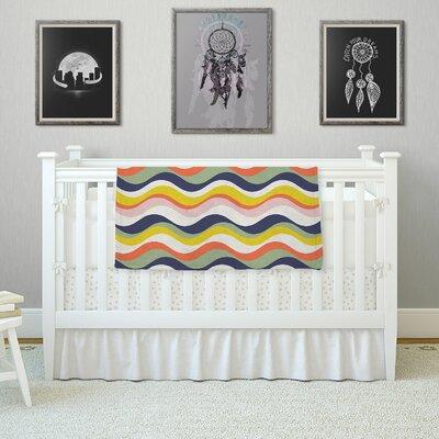 Rainbow Stripes by Gukuuki Fleece Blanket Size: 80 L x 60 W