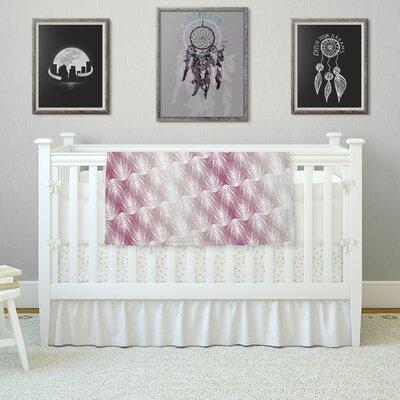Stripe Palms by Gukuuki Fleece Blanket Size: 80 L x 60 W