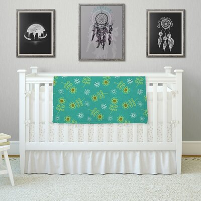 Ditsy Daisy by Holly Helgeson Fleece Blanket Size: 80 L x 60 W