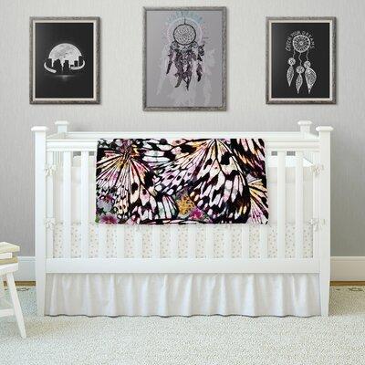 Butterfly Wings by Louise Machado Fleece Blanket Size: 80 L x 60 W