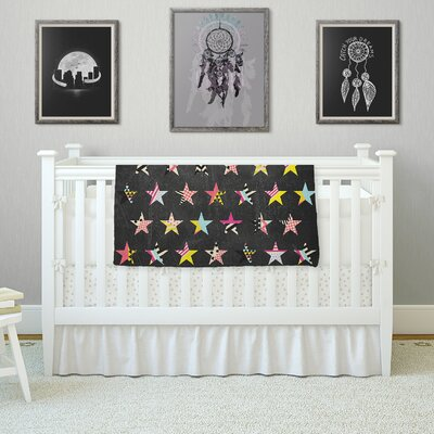 Dancing Stars by Louise Machado Fleece Blanket Size: 80 L x 60 W