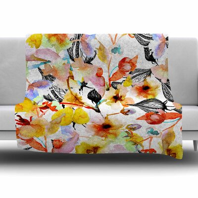 BLOSSOMS by Liz Perez Fleece Blanket Size: 80 L x 60 W