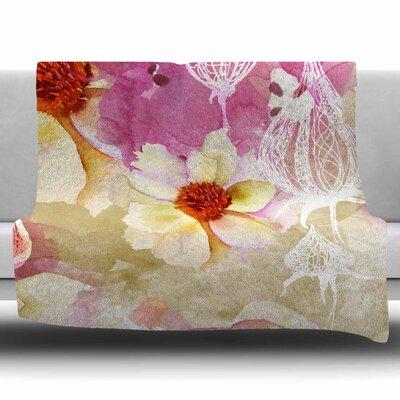 SWEET FLORIST by Liz Perez Fleece Blanket Size: 80 L x 60 W
