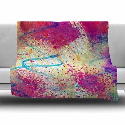 RAINBOW by Liz Perez Fleece Blanket Size: 80 L x 60 W