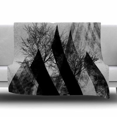 TREES V2 by Pia Schneider Fleece Blanket Size: 80 L x 60 W