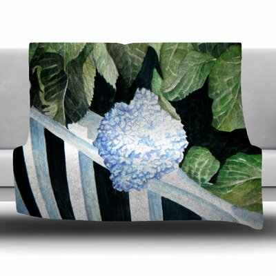 Hydrangea by Rosie Brown Fleece Blanket Size: 80 L x 60 W