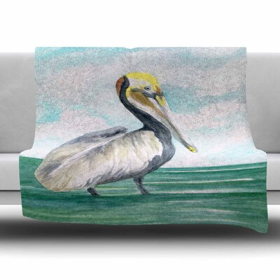 Pelican by Rosie Brown Fleece Blanket Size: 80 L x 60 W