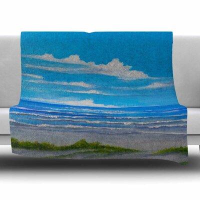 Sanibel Island by Rosie Brown Fleece Blanket Size: 80 L x 60 W